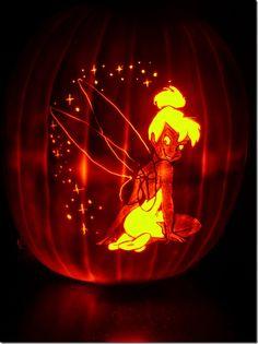 My little Tinkerbell carving pumpkin halloween pumkin ideas Disney Pumpkin Carving, Pumkin Carving, Amazing Pumpkin Carving, Pumpkin Carving Templates, Pumpkin Art, Cute Pumpkin, Pumpkin Ideas, Pumpkin Patterns, Carving Pumpkins