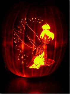 1000 images about halloween on pinterest carving for How to carve tinkerbell in a pumpkin