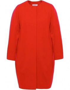Red Egg Cocoon Coat
