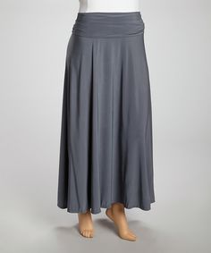 This Gray Maxi Skirt - Plus is perfect! #zulilyfinds