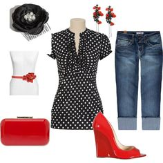 black and red... love it!... but i would wear flats :)