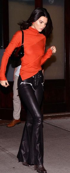 05ec89b65ad4d Who made Kendall Jenner s black lace up leather pants