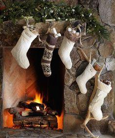 knock off holiday stockings, christmas decorations, crafts, seasonal holiday decor Vintage Christmas Stockings, Retro Christmas, Rustic Christmas, Christmas Home, Xmas, Christmas Outfits, Christmas Kitchen, Christmas Trees, Pottery Barn