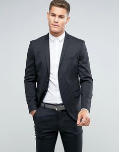 Selected Homme Slim Suit Jacket In Dark Gray - Gray