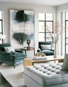 teal, gray and gold! Love the aqua chairs with pale gray walls!!