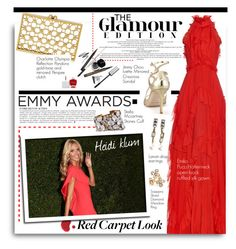 """Dress Your Favorite Emmy Nominee!"" by hamaly ❤ liked on Polyvore featuring Emilio Pucci, Anja, Saqqara, STELLA McCARTNEY, Charlotte Olympia, Jimmy Choo, Lanvin, emiliopucci, Gowns and CelebrityStyle"