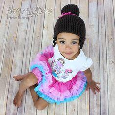 Ravelry: Princess Ballerina Bun Beanie pattern by Briana Olsen