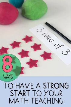 How to Make a Strong Start in your Math Teaching School Classroom, School Teacher, Math Teacher, Teaching Numbers, Teaching Math, Math Activities, Teaching Resources, Teaching Ideas, Early Years Maths