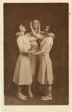 Nijinsky, Karsavina and Ludmilla Shollar in 'Jeux.' by Gerschel] (1913)