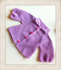Hæklet baby-trøje - Handmade by LS  www.lisbeth-s.dk