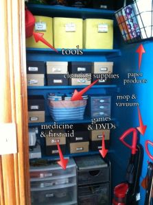 An organized utility closet, a stunning before and after blog post. Take a look and be inspired. #ClutterFree