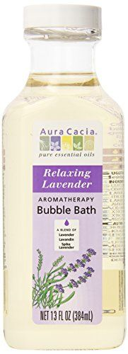 Aura Cacia Aromatherapy Bubble Bath, Relaxing Lavender, 13 fluid ounce bottle (Pack of 3) * Check out @