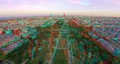3D view of Champ-de-Mars from the Tour Eiffel