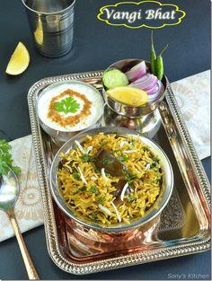 Vangi Bhaat/Bhat–Brinjal Rice