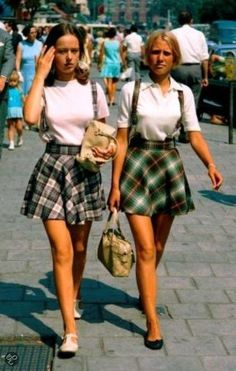 Mini skirts in Holland, 1969