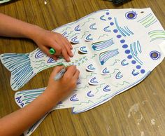 May childrens dayJapan carp kite called a koinobori Buy Roylcos Japanese Carp Wind Sock Kit 8 Sch Sp 24 diecut fish wtag board strips that teacher glues into the. Japan For Kids, Art For Kids, Children's Day Japan, Projects For Kids, Art Projects, Kites Craft, 2nd Grade Art, Art Lessons Elementary, Child Day
