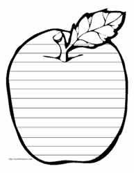 Kindergarten writing sheet for Apple week, Narrative Writing Kindergarten, Kindergarten Writing Activities, First Grade Writing, Writing Lessons, Cute Writing, Kids Writing, Writing Paper, Handwriting Practice Paper, Shape Books