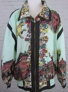 Vintage Giacca Sport Hip Hop Windbreaker Jacket Paris Mythology #Baroque #Pixiu #GiaccaSport #Windbreaker