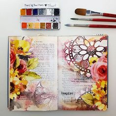 ---- Inspire... in everyday life... ♡ My favourite art journey by night... #maremismallart #artdiary #journal #journallove #artjournaling #artjournal #mixedmediaart #mixedmedia #janedavenport @janedavenport #janedavenportmixedmedia #watercolorfun #watercolorlove #watercolor #colouring #painting #paintdaily #createdaily