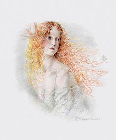 Я – женщина, я плавность моря, тишина заката! Кинуко Крафт - Kinuko Craft: alionushka1
