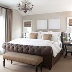 I like this neutral color scheme for a relaxing guest bedroom.
