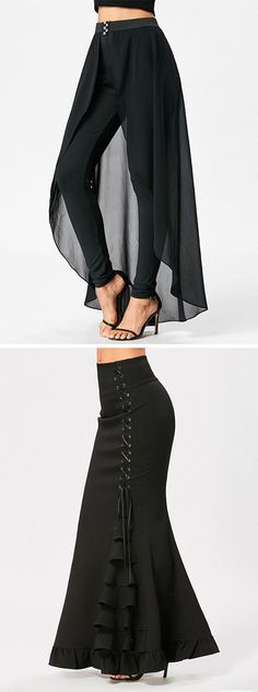 Buy the latest Pants and Skirts For Women cheap prices, and check out our daily updated new arrival womens sexy and cute Bottoms at Dresslily. Look Fashion, Womens Fashion, Fashion Design, Diy Clothes, Clothes For Women, Mode Hijab, Designer Wear, African Fashion, Ideias Fashion