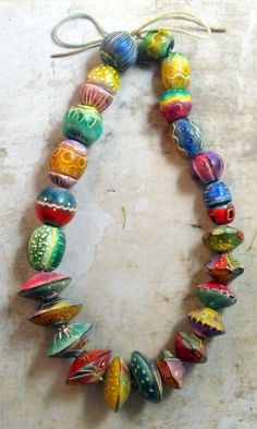 Big Artisan Statement Beads Handmade from by MargitBoehmer