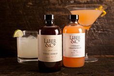 Small batch cocktail mixers by Liber & Co from Bourbon and Boots. So worth trying! Mixed Drinks, Fun Drinks, Yummy Drinks, Tonic Syrup, Bourbon And Boots, Cocktail Mixers, Gourmet Gifts, Non Alcoholic, Nom Nom
