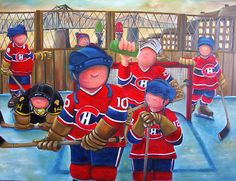année 70 Montreal Canadiens, Canadian Artists, Tole Painting, Vintage Images, Nhl, Cartoon, Baseball, Sports, Kids