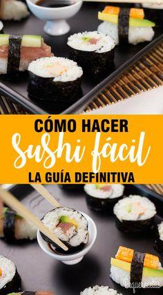 Sushi Recipes, Snack Recipes, Sushi Case, Types Of Sushi, Sushi At Home, Sushi Night, How To Make Sushi, Homemade Sushi, Gula