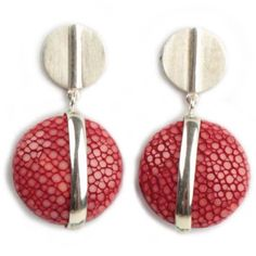 Gifts :: By Recipient :: Gifts for Her :: Stingray earrings UFO stripe