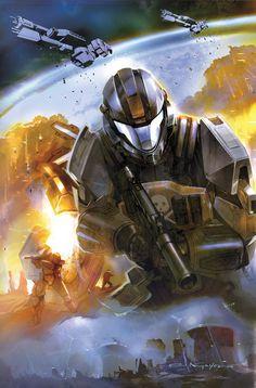 Halo: Helljumper #1 by Eric Nguyen.