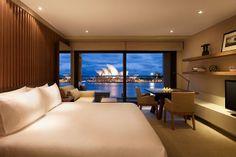 A bedroom at the Park Hyatt Hotel, Sydney Australia.