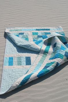 sea glass quilt by Hi.C., via Flickr