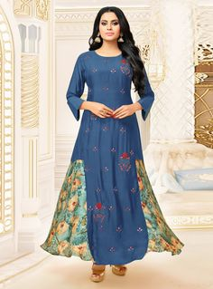 Buy Sky Blue Satin Readymade Gown 120302 online at lowest price from our mens indo western collection at m.indianclothstore.c.