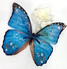 Excited to share this item from my shop: Gift - Handmade Famous Quote, Butterfly, Life isn't about waiting for the storm to pass. It's about learning to dance in the rain 31 Gifts, Butterfly Wall Art, Learn To Dance, Glue Dots, Dancing In The Rain, Christian Gifts, Navy Color, Large Flowers, Quote Prints