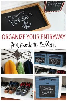 Organizing Your Entr