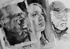 Tonal watercolor portraiture demonstrations. Can't paint well in color unless you master tone.