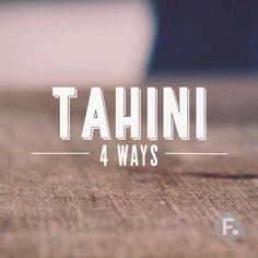 Tahini 4 Ways