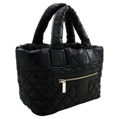 For Sale on - An authentic CHANEL Coco Cocoon Nylon Tote Bag Handbag Black Bordeaux Leather. The color is Black. The outside material is Nylon. The pattern is Solid. Nylon Tote Bags, Black Handbags, Bordeaux, Chanel, Shoulder Bag, Leather, Black Purses, Bordeaux Wine, Shoulder Bags