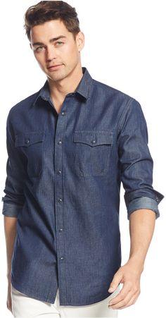 American Rag Men's Denim Shirt