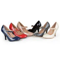 Amazon.com: Brinley Co Womens Patent Round Toe Mary Jane Pumps: Pumps Shoes: Shoes