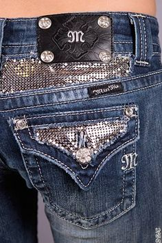 Miss Me Jeans, Bootcut Rhinestone Floral Embroidered Dark-Wash ...
