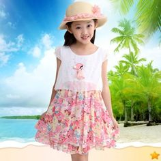 Children dress Princess Dress Chiffon Dress in summer dress online shopping sites http://www.allymey.com