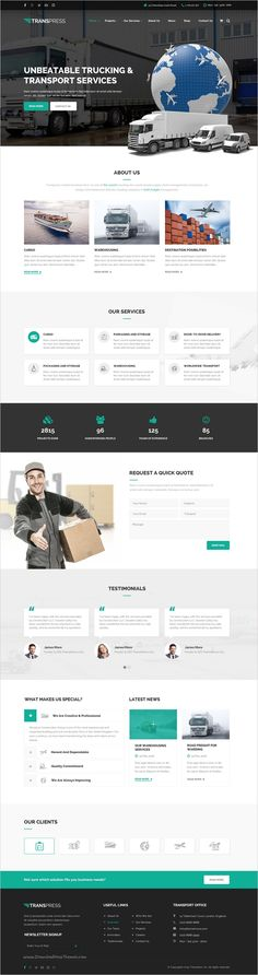 Transpress is a great #PSD #template for #logistics and warehouse services website with 7 unique homepage layouts download now➯ https://themeforest.net/item/transpress-transport-logistics-warehouse-psd-template/17167734?ref=Datasata
