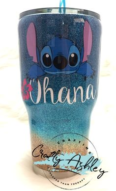 Ohana Stitch tumbler - New Ideas Ohana Stitch tumbler glitter tumbler Diy Tumblers, Custom Tumblers, Glitter Tumblers, Ohana, Peluche Stitch, Disney Tassen, Lilo And Stitch Quotes, Lelo And Stitch, Stitch Disney