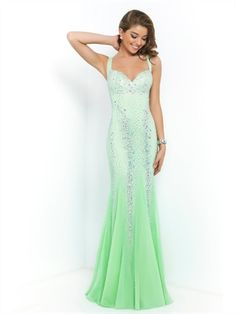 Chiffon Sweetheart Beaded with low open back Prom Dress PD2890