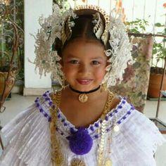 Traje tipico de Panama....if I have a girl i want a pic like this :)