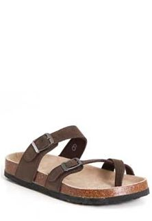 Outwoods Bork Double Buckle Sandals for Women in Dark Brown 21321-702
