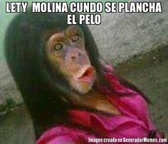 LETY  MOLINA CUNDO SE PLANCHA EL PELO   -
